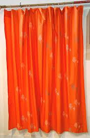 curtains ideas orange and gray shower curtain inspiring