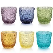 set bicchieri tricot set bicchieri acqua arlecchino ivv