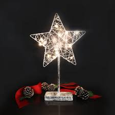 christmas lights net style gentle glow led star light nonagon style