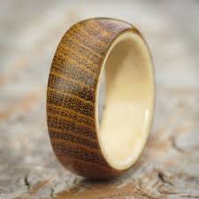 thought of a wooden ring for a gift