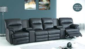 Cinema Recliner Sofa 4 Seater Black Leather Recliner Sofa Fabric Sale Horizon Home