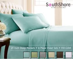 amazon com southshore fine linens 6 piece extra deep pocket