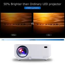 screen size for home theater amazon com dbpower t20 1500 lumens lcd mini projector multimedia