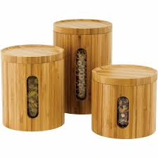 wooden kitchen canisters heritage mint ltd bamboo kitchen three canister set zbk16