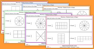 l shade shapes ks1 reasoning shading fractions of shapes test practice