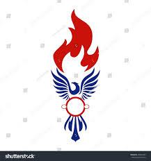 Phoenix Arizona Flag Phoenix Logo Template Firebird Eagle Logo Stock Vector 458963383