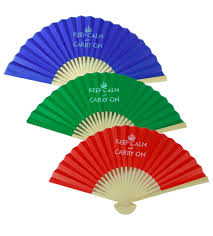 decorative fans keep calm and carry on paper fans