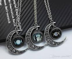 star friendship necklace images Wholesale triple moon star pendants necklaces stone supernatural jpg