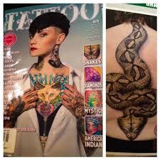 alchemy tattoo arts scott u0027s gaboon viper tattoo in this months