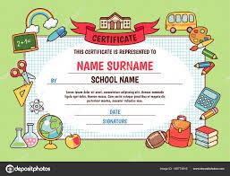 diplomas de primaria descargar diplomas de primaria diploma escuela primaria linda plantilla con marco dibujos animados