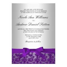 Purple And Silver Wedding Purple And Silver Wedding Invitations U0026 Announcements Zazzle Co Uk