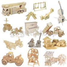 diy 3d jigsaw wood craft kits realistic wooden model puzzles toys