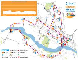 Vcu Map Anthem Richmond Marathon Course Maps