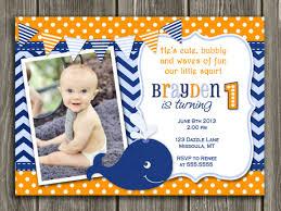 printable boys preppy whale birthday invitation 1st birthday