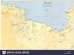Map Of Libya Libya Benghazi To Tripoli Winter 1942 1943 1966 Vintage Map