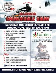 rochester snowmobile show hilton sno flyers