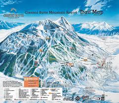 Montana Ski Resorts Map by Crested Butte Ski Resort Map