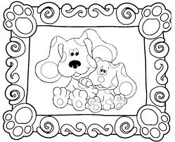 coloring pages fancy blues clues coloring pages sheets book 78