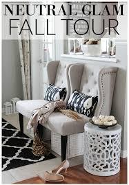 Glam Home Decor Neutral Glam Fall Tour And Fall Decor Ideas Setting For Four