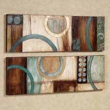 brown turquoise bathroom accessorries home lavare canvas art set