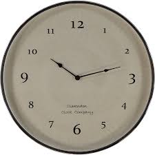 chrome large mop face wall clock 60cm tk maxx home accessories