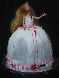 a bluestocking knits zombie barbie cake