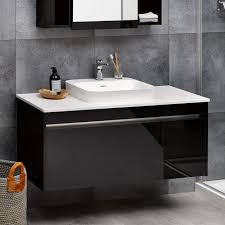 White Bathroom Cabinets With Dark Counter Tops Dark Countertops Custom Home Design