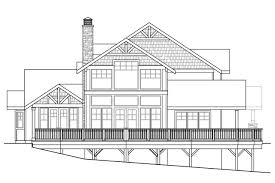rear view house plans craftsman house plans stratford 30 615 associated designs