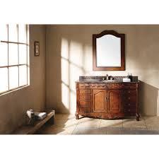 bathroom solid wood single bathroom vanity with vessel sink for