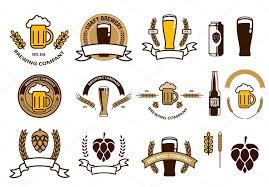 set of craft beer emblems and logo templates u2014 vetores de stock