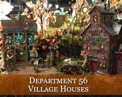 vintage halloween village houses u0026 accessories traditions