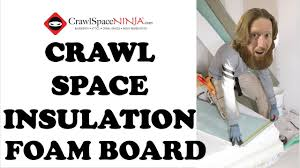 how to insulate crawl space with foam board crawl space