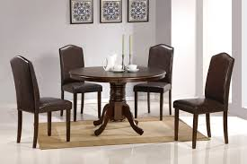 round dining table with leather chairs with design image 2740 zenboa