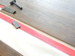 Laminate Floor Lifting Up Custom Kitchen Wood Floor In Contractors Contemporary Installation