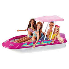 Barbie Glam Bathroom by Amazon Com Barbie Glam Boat With Canopy And 1 Doll Seats 4 Toys
