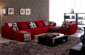 Dark Red Sofa Set Bedroom Amazing Red Sofa Furniture Placed Living Room Combine