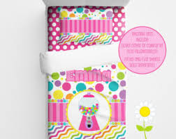 Personalized Girls Bedding by Personalized Rainbow Bedding For Kids Chevron Duvet Or