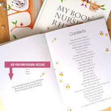deluxe version personalised nursery rhyme and poem book by my