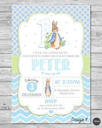 rabbit party supplies rabbit personalised invitation 1st birthday party supplies boy