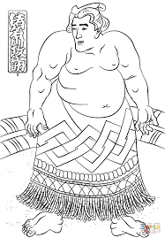 the sumo wrestler by utagawa kuniyoshi coloring page free
