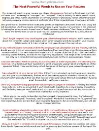 100 Great Resume Words Cover Letter Power Words Image Collections Cover Letter Ideas