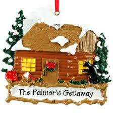 personalized log cabins ornaments gifts ornaments more