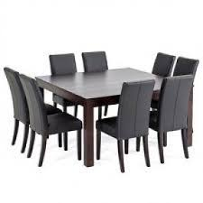 Black Square Dining Table Square 8 Seater Dining Table Foter
