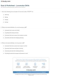 quiz u0026 worksheet locomotor skills study com