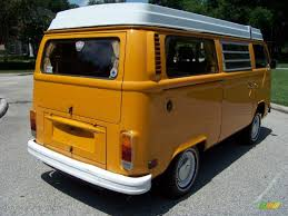orange volkswagen van 1977 chrome yellow volkswagen bus t2 camper van 32391803