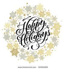 happy holidays text winter celebration stock vector