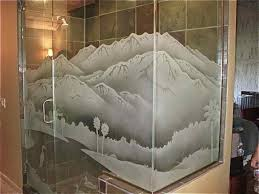 decorative glass shower doors etched glass shower wnclosure etched windows pinterest