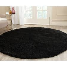 Round Throw Rugs by California Shag Black 6 Ft 7 In X 6 Ft 7 In Round Area Rug