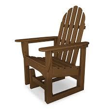 polywood adirondack glider chairs weatherproof patio porch