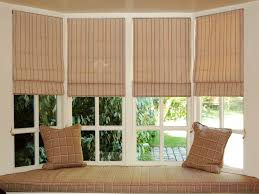 bay window blinds awesome house image of bay window roman shades